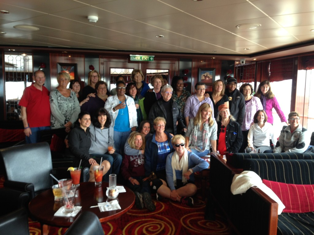 Our WOAR guests (and Andrea's Dad) at the Pride of the Ocean Alaska Cruise in August 2013!